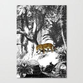Leopard & Landscape Canvas Print