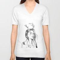 dancer V-neck T-shirts featuring Dancer by Cassandra Jean