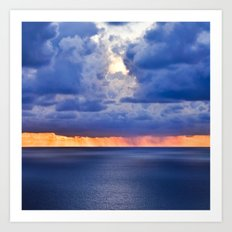 'tween sea and sky, after Rothko. Art Print