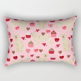 Golden Retriever cute valentines day must have dog gifts pet portraits custom dog lover valentines Rectangular Pillow