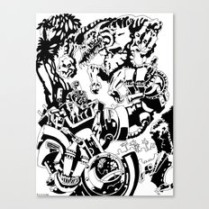 Doktor Steampug- Black and White Canvas Print