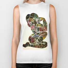 Graffiti Girl Modern Abstract Fine Art Nude Painting Pop ART Biker Tank