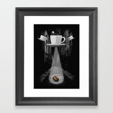 Mr. Coffee Bean Framed Art Print
