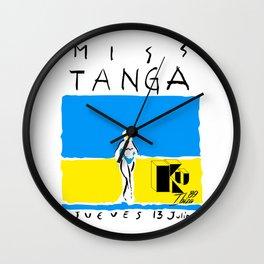 Miss Tanga Wall Clock