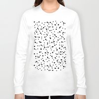 polkadot Long Sleeve T-shirts featuring Polkadot White Pattern by Pan Lis