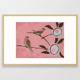 Brown Birds Framed Art Print