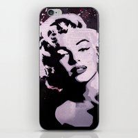 marylin monroe iPhone & iPod Skins featuring MARYLIN by f_e_l_i_x_x