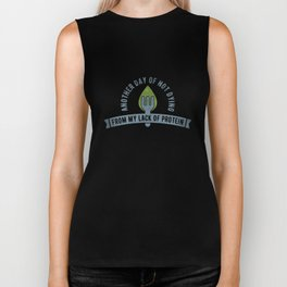 Vegan Not Dying From Protein Lack - Funny Go Vegan Quote Gift Biker Tank
