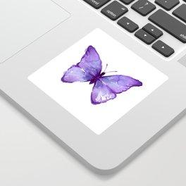 Purple Butterfly Sticker