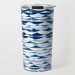 Glitch Waves - Classic Blue Travel Mug