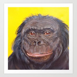 Bonobo Ape Art Print