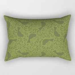 Birdie Bundle - green Rectangular Pillow