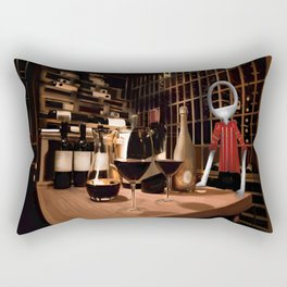 Corky in the cellar Rectangular Pillow