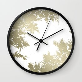 Night's Sky White Gold Wall Clock