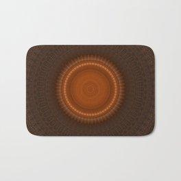 Tribal Copper Rust Mandala Design Bath Mat