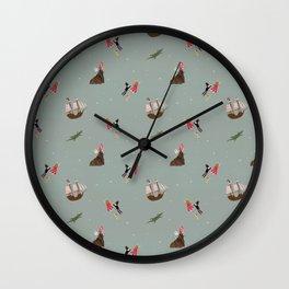 Neverland Pattern Wall Clock