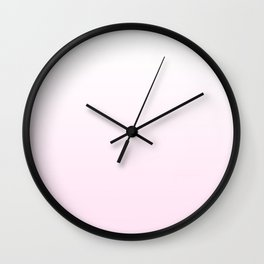 pretty pink gradient Wall Clock