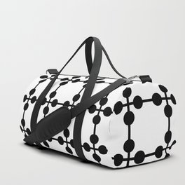 Droplets Pattern - White & Black Duffle Bag