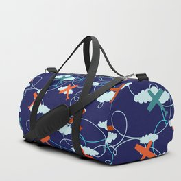 The Mary Collection - fly the plane in navy blue Duffle Bag