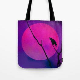 The Crow And The Pink Moon Tote Bag