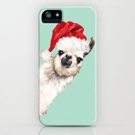 Christmas Sneaky Llama iPhone Case