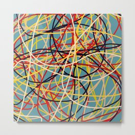 Colored Line Chaos #2 Metal Print