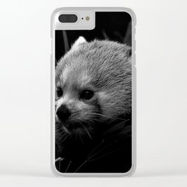 Awesome B&W red Panda Clear iPhone Case