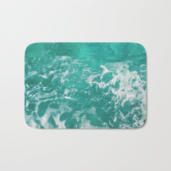Bavaro Beach ocean waves Bath Mat