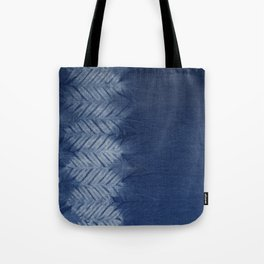 Shibori Chevron Stripe Tote Bag
