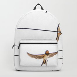 wired swallows chatting Backpack