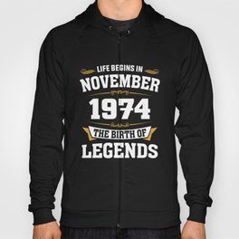 November 1974 44 the birth of Legends Hoody