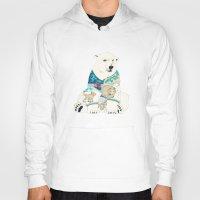 polar bear Hoodies featuring Polar Bear by Yuliya