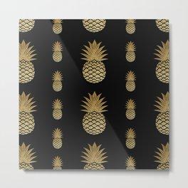Pineapple pattern cool design Metal Print