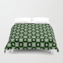 Soccer Motif Pattern Duvet Cover