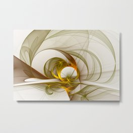 Fractal Art Precious Metals, Abstract Graphic Metal Print