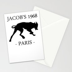 Black Dog II Contour White Jacob's 1968 fashion Paris Stationery Cards
