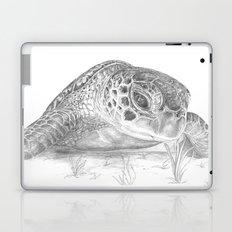 A Green Sea Turtle :: Grayscale Laptop & iPad Skin
