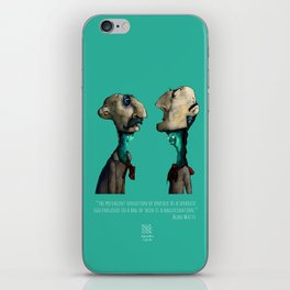 Ego in Bags of Skin - Alan Watts iPhone Skin