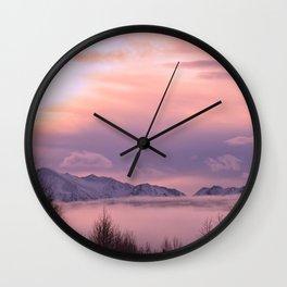 Rose Serenity Winter Fog Wall Clock