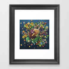 the hiding-place of the Gelatass Framed Art Print