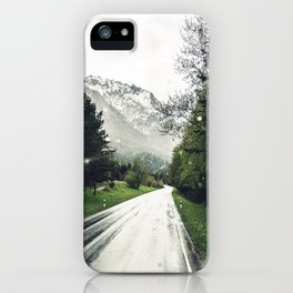 Down the Road - Mountains, Forest, Austria iPhone Case