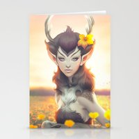 princess Stationery Cards featuring Deer Princess by Artgerm™