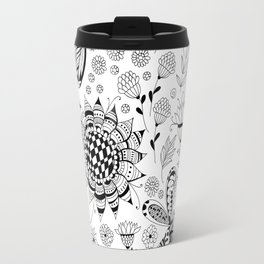 Dragonflies and flowers Travel Mug