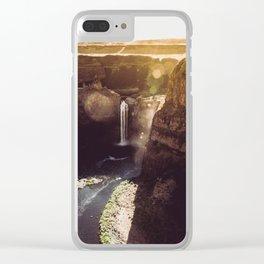 Desert Waterfall Clear iPhone Case