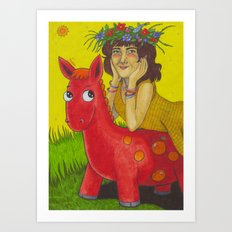 Sally Cinnamon Art Print