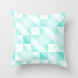 All Turquoise Triangle Pattern Throw Pillow