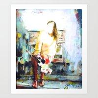 cassia beck Art Prints featuring Beck by Susan Sage Art