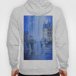 Quiet Harbour - boats safely moored Hoody