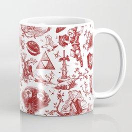 "Zelda ""Hero of Time"" Toile Pattern - Goron's Ruby Coffee Mug"