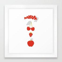 Röda bär Framed Art Print
